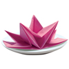 Origami Fancy Fold Paper Napkins Fuchsia, Set of 12
