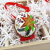Peter Priess Hand Painted  Poinsettia Egg