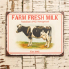 Vintage Farm Fresh Milk Sign