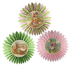 Spring Tissue Paper Rosettes, Set of 3