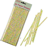 Yellow Floral Straws. 25/pkg
