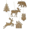 Woodland Cookie Ornaments, Set of 6