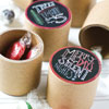 Paper Christmas Treat Containers, Set of 12