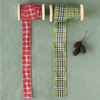 Plaid Ribbon on Spools, Set of 2