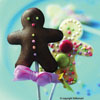 Gingerbread Man Lollipop C
