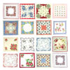 Vintage Floral Handkerchiefs, Set of 16