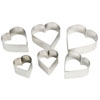 Cookie Cutter Heart Set of 6, Plain Edge