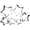 Cookie Cutter 5 Point Star Set of 6, Plain Edge