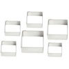 Cutters Graduated Square Set of 6, Plain Edge
