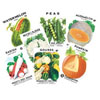 Vintage Veggie Seed Packages Wafer Paper, Set of 12