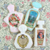 Vintage Perfume Bottle Labels Wafer Paper, Set o
