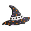 Cookie Cutter Witch Hat Ruffle Rim, Tin