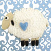 Hammer Song Sheep With Heart Tin Cookie Cutter