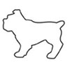 Cookie Cutter Bull Dog Tin