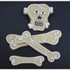 SALE! ArtGirl Skull and Bones Cookie Cutters Set of 4, tin