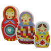 Cookie Cutter Matryoshka Nesting Dolls, Set of 3