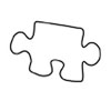 Cookie Cutter Puzzle Piece Large Tin
