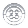 Cookie Cutter Button Stainless Steel 2.5