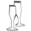 Cookie Cutter Champagne Glasses Stainless Steel