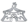 Detailed Circus Tent Cookie Cutter Stainless Steel