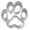 Cookie Cutter Dog Paw Stainless Stee