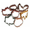 Cookie Cutter Autumn Set of 7, Tin Coated