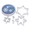 Cookie Cutter Frilly Snowflakes Set of 5, Tin
