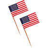 U.S. Paper Flags Cupcake Decorations, Set of 12