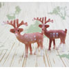 Small Reindeer Cupcake Decorations, Set of 6 LTD QTY