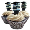 Stacked Books for Graduation Cupcake Picks, Set of 12