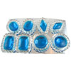 Edible Diva Designs Blue Sugar Cake Jewels, Set of 8