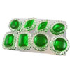 Edible Diva Designs Emerald Sugar Cake Jewels, Set of 8