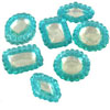 Edible Diva Designs Inverted Pale Aqua Sugar Cake Jewels