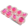 Edible Diva Designs Pink Sugar Cake Jewels, Set of 8