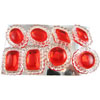 Edible Diva Designs Ruby Sugar Cake Jewels, Set of 8