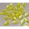 Edible Sugar Diamond Shape Yellow, Set of 30