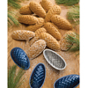 Swedish Pine Cone Cookie Tins, Set of 9