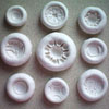 Silicone Fancy Button Mold Set of 9
