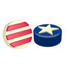 Chocolate Covered Oreos Stars & Stripes Mold