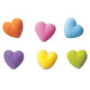 Sugar Hearts Assorted, Set of 48