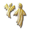 Sugar Ghosts Assorted Halloween, Set of 4