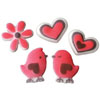 Sugar Love Bird  Assortment, Set of 6