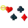 Sugar Playing Card Suits, Set of 16
