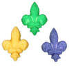 Sugar Fleur De Lys- Mardi Gras Colors, Set of 12
