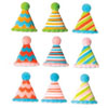 Sugar Party Hats,  Assortment of 10