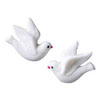 Sugar White Doves , Set of 8