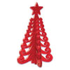 Scandinavian 3-D Christmas Tree  Cupcake Picks, Set of 6
