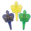 Mardi Gras Jewel Crown Cupcake Picks, Set of 12