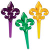 Mardi Gras Fleur De LIs Cupcake Picks, Set of 12