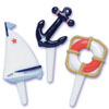 Nautical Cupcake Picks, Set of 12